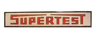 3566: SUPERTEST SIGN  Original porcelain Supertest sign