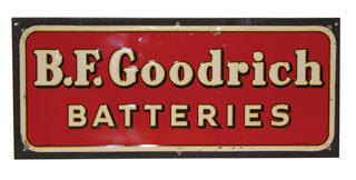 4002: B.F. GOODRICH SIGN  Original metal B.F. Goodrich