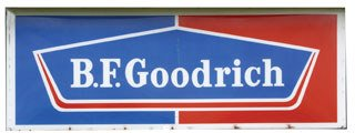 4003: B.F. GOODRICH SIGN  Plastic B.F. Goodrich sign wi