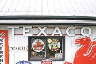4011: TEXACO SIGN  Original Texaco sign with individual