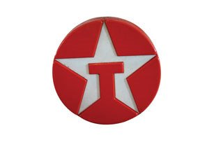 4013: TEXACO SIGN  Plastic illuminated Texaco sign, 32""