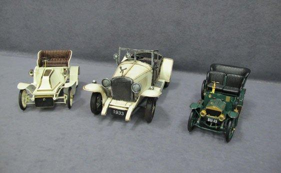 005N: Three (3) Assorted Scale Model Cars