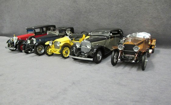 330N: Five (5) 1/24 Scale Frankling Mint Cars