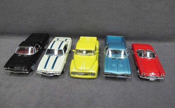 331N: Five (5) 1/24 Scale Danbury Mint Cars
