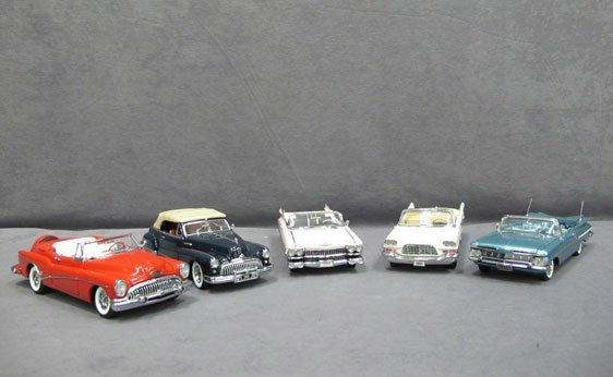 332N: Five (5) 1/24 Scale Danbury Mint Cars