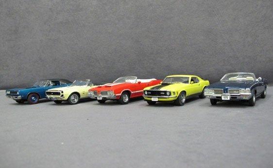 333N: Five (5) 1/24 Scale Danbury Mint Cars