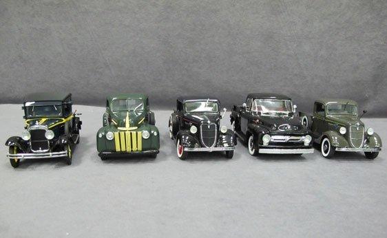 334N: Five (5) 1/24 Scale Danbury Mint Cars