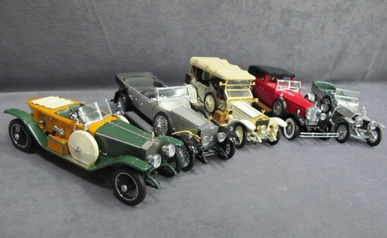335N: Five (5) 1/24 Scale Franklin Mint Cars