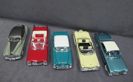 336N: Five (5) 1/24 Scale Danbury Mint Cars