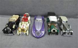 519N: Five (5) 1/24 Scale Franklin Mint Cars