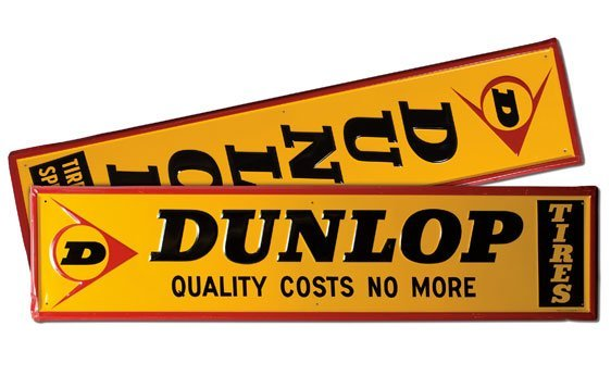 Two Dunlop Signs