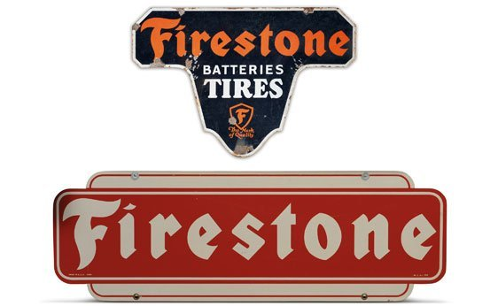 Two Firestone Signs