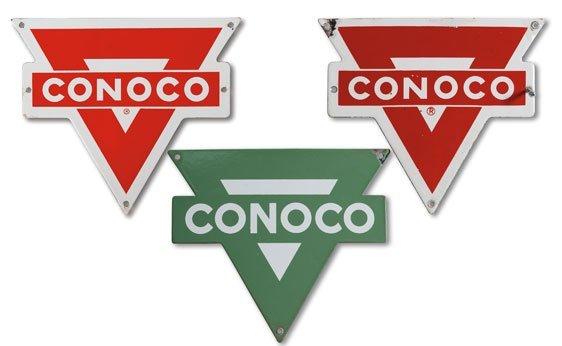 Three Conoco Signs