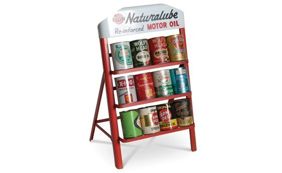 Motor Oil Cans & Stand
