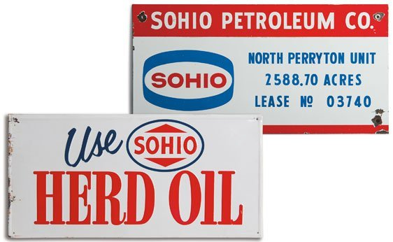 Two Sohio Signs