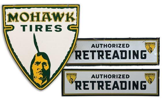 Three Mohawk Tires Signs