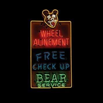 1204: 1204-Bear Wheel Alinement Neon