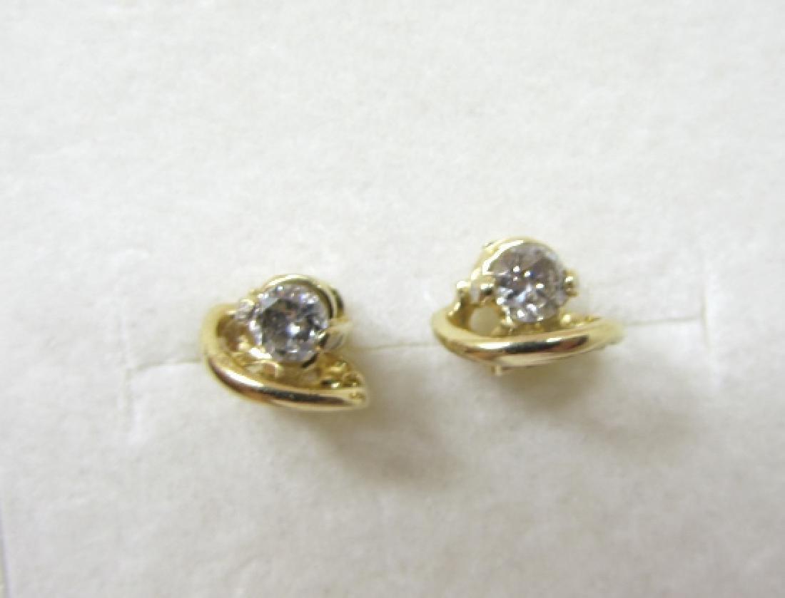 .40CT DIAMOND STUD EARRINGS 14K GOLD