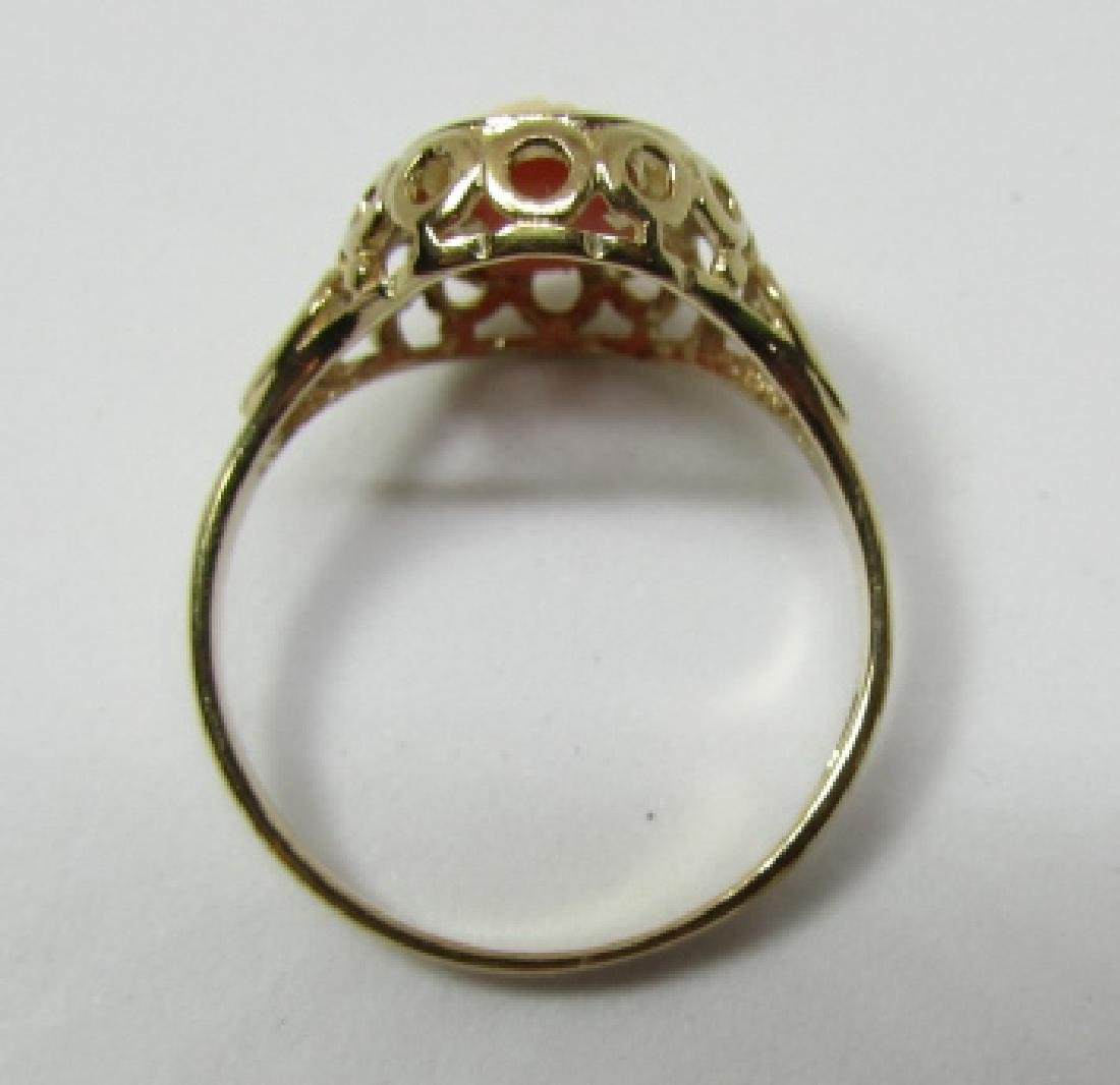 CAMEO RING HALLMARKED 375 GOLD 9K SIZE 6 - 3