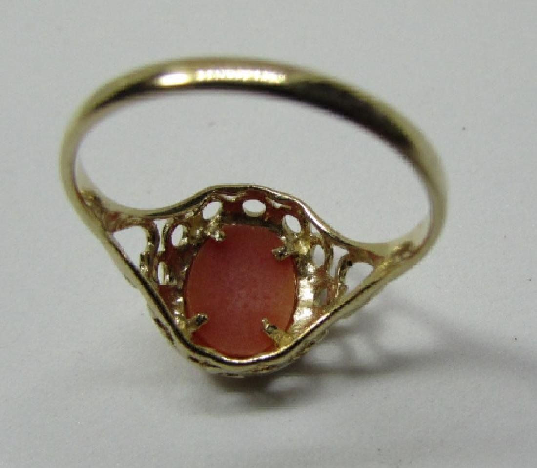 CAMEO RING HALLMARKED 375 GOLD 9K SIZE 6 - 4