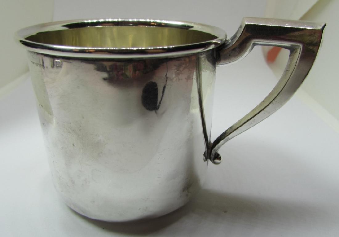 SAART STERLING SILVER BABY CUP MUG 43.5 GRAMS