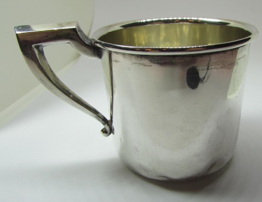 SAART STERLING SILVER BABY CUP MUG 43.5 GRAMS - 2