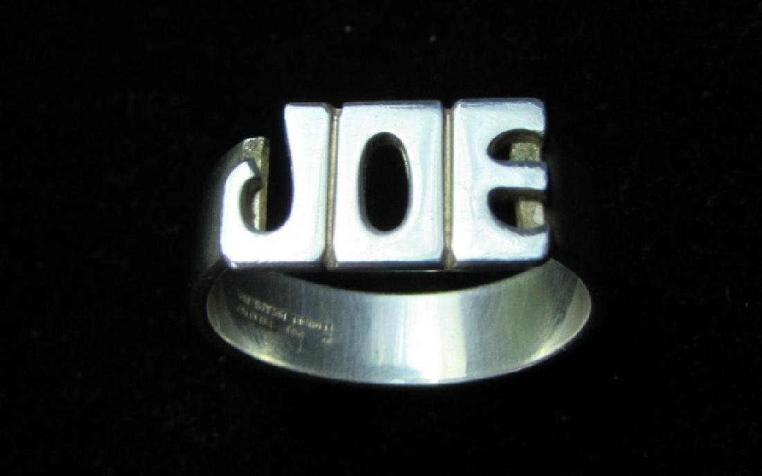 JOE RING STERLING SILVER 1981 LEONORE DOSKOW