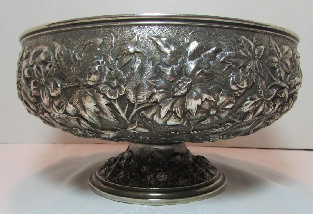 1881 WHITING STERLING SILVER BOWL REPOUSSE 677GRAM