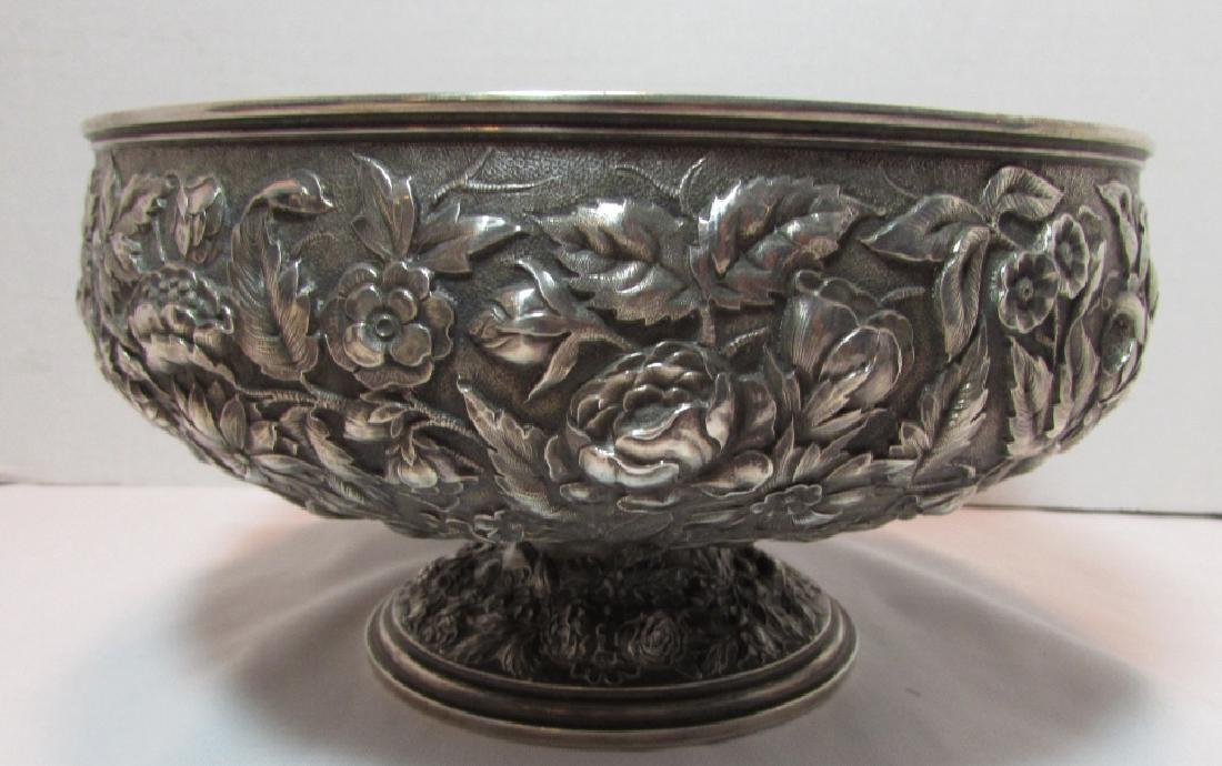1881 WHITING STERLING SILVER BOWL REPOUSSE 677GRAM - 4