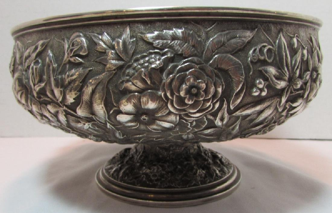 1881 WHITING STERLING SILVER BOWL REPOUSSE 677GRAM - 5