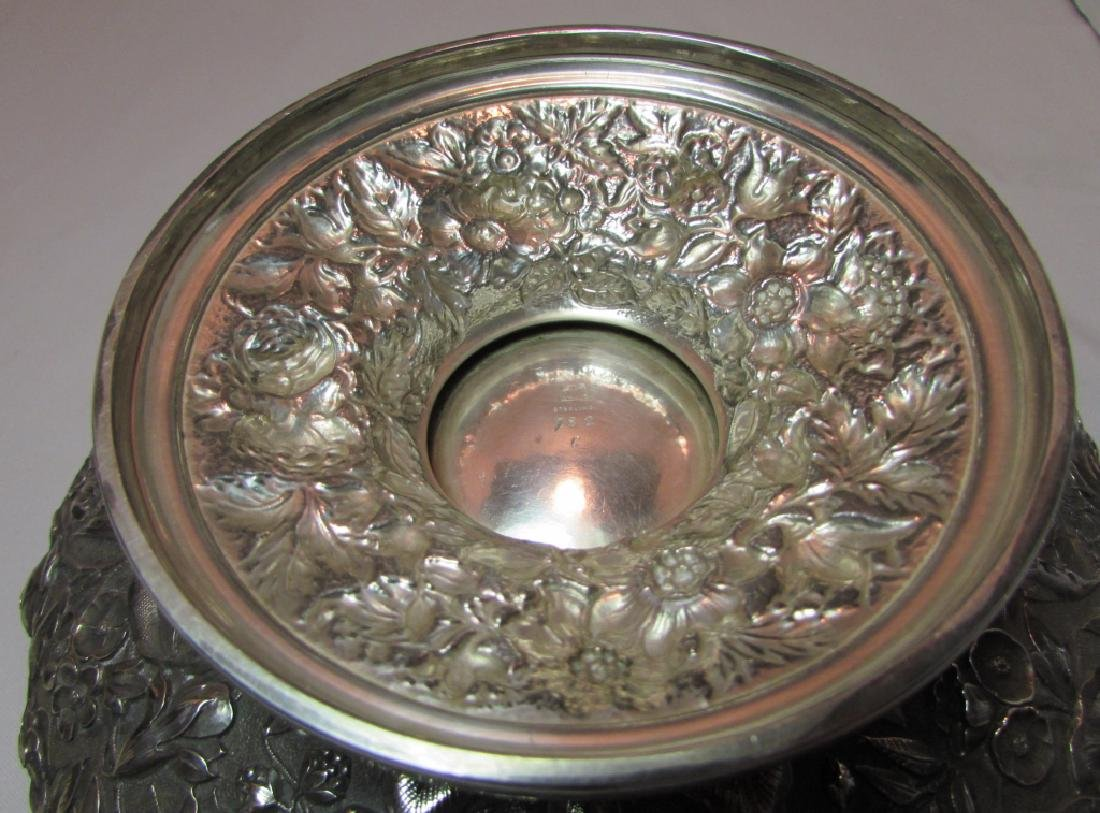 1881 WHITING STERLING SILVER BOWL REPOUSSE 677GRAM - 6