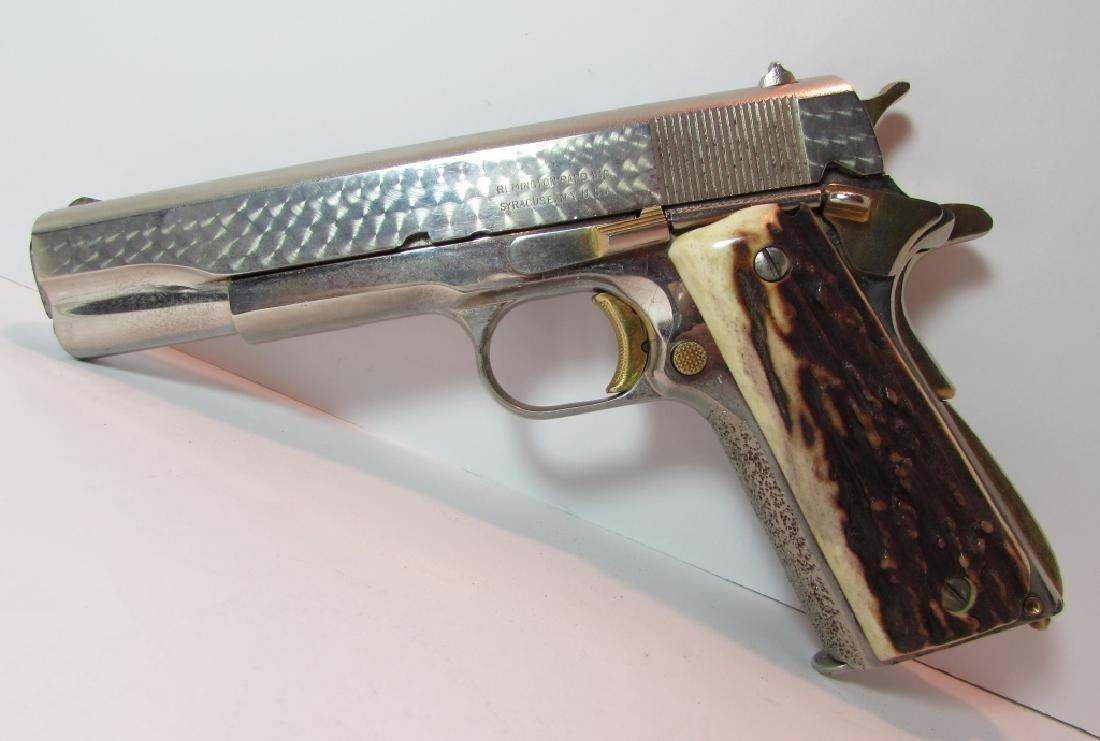 REMINGTON RAND NICKEL GOLD STAG 45 ACP 1911 GUN