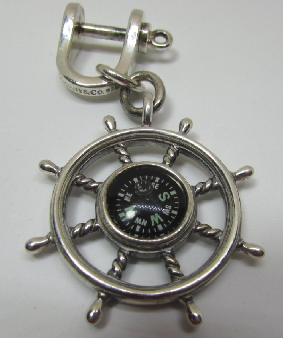 TIFFANY AND CO STERLING COMPASS KEYRING