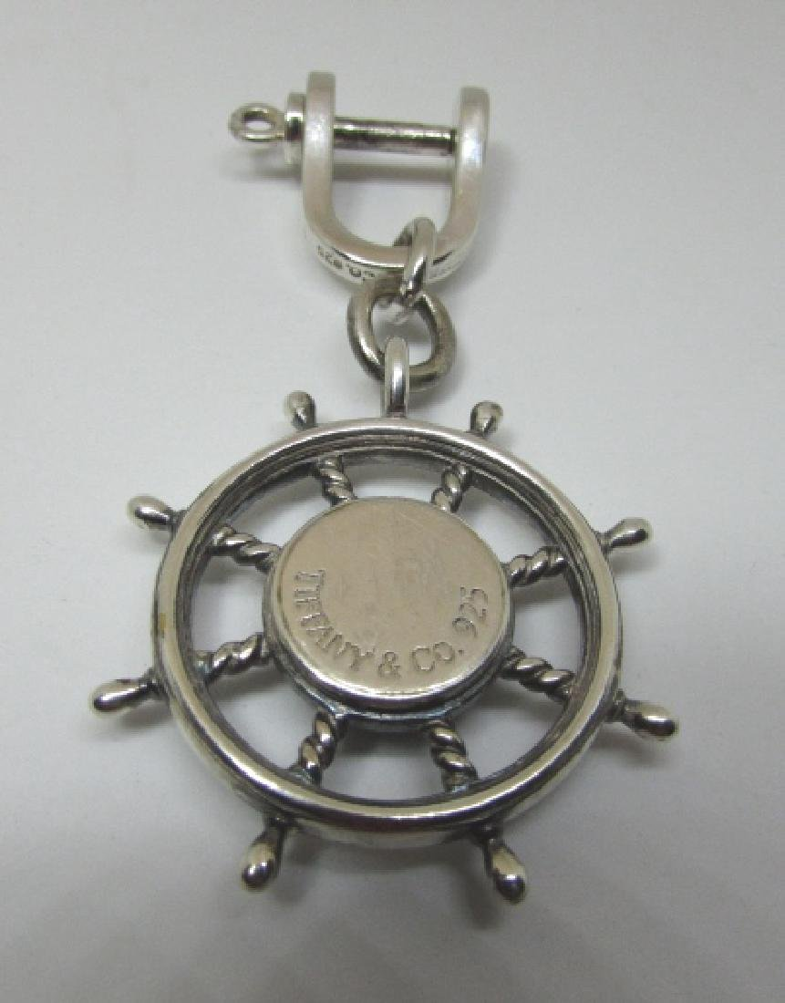 TIFFANY AND CO STERLING COMPASS KEYRING - 2