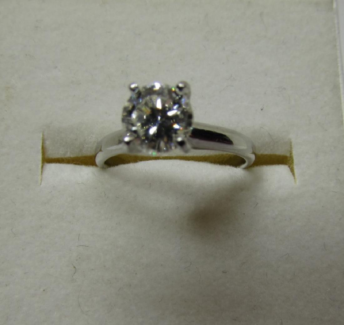 1 CT DIAMOND ENGAGEMENT RING PLATINUM SI2