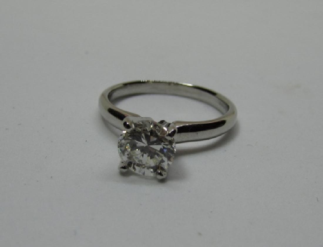 1 CT DIAMOND ENGAGEMENT RING PLATINUM SI2 - 2