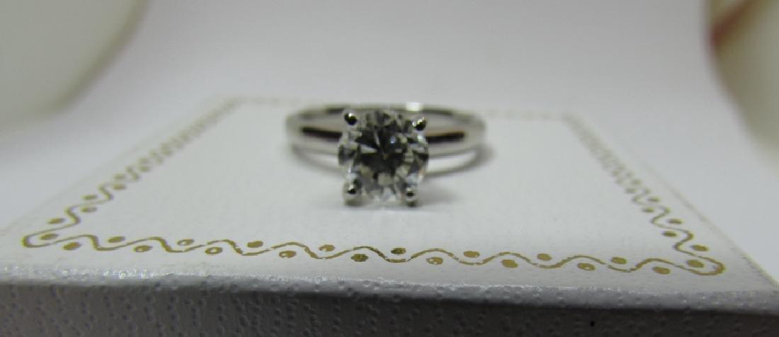 1 CT DIAMOND ENGAGEMENT RING PLATINUM SI2 - 3