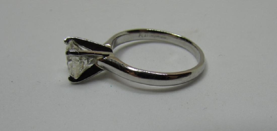 1 CT DIAMOND ENGAGEMENT RING PLATINUM SI2 - 5