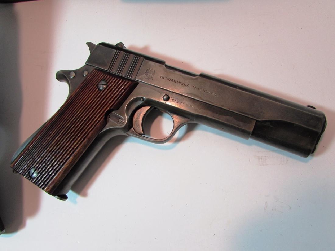ARGENTINE COLT 11.25mm 1911 GENDARMERIA PISTOL - 2