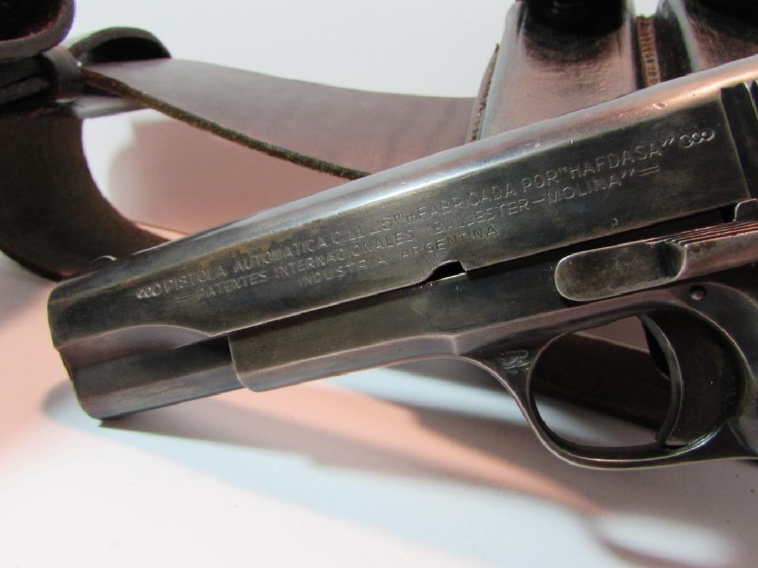 ARGENTINE COLT 11.25mm 1911 GENDARMERIA PISTOL - 4