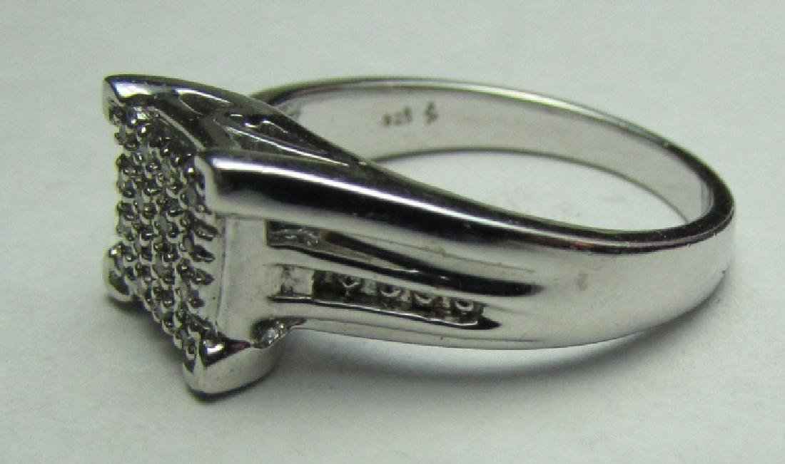 16 DIAMOND ENGAGEMENT RING STERLING SILVER SIZE 7 - 2