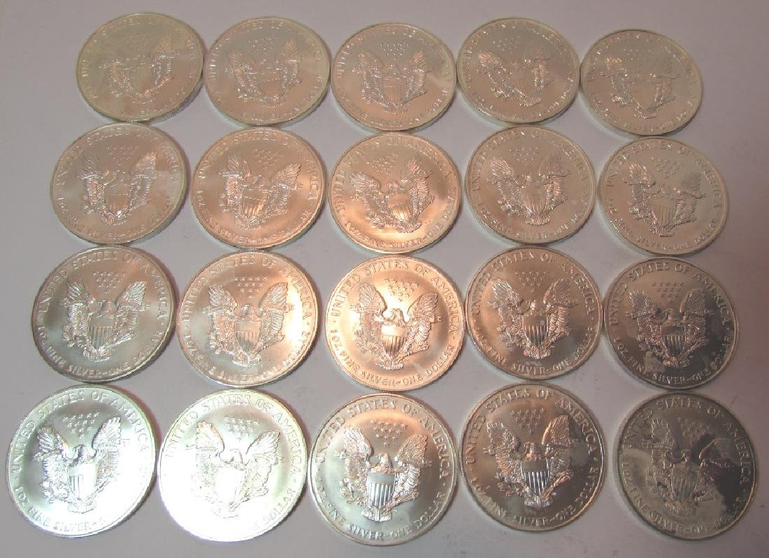 ROLL SILVER EAGLE COINS 20 PCS 1997 - 3