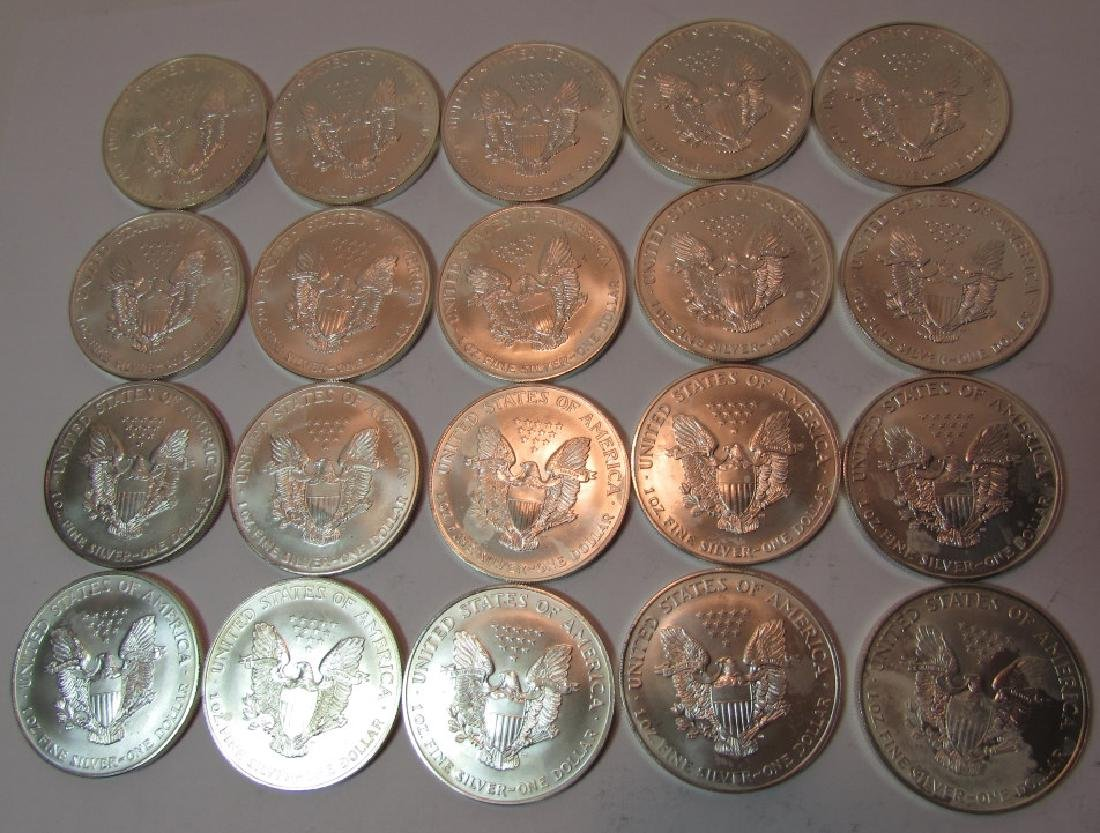 ROLL SILVER EAGLE COINS 20 PCS 1997 - 4