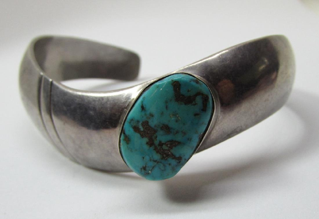 LC NAVAJO TURQUOISE BRACELET STERLING SILVER
