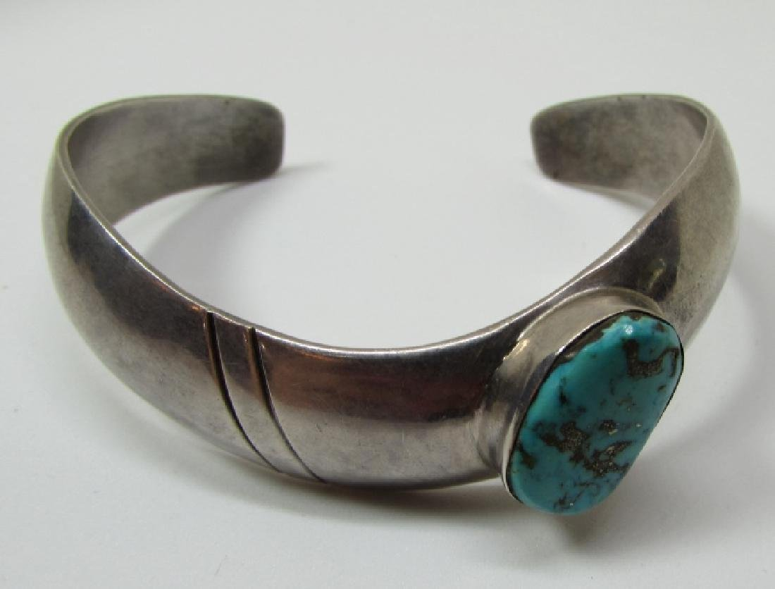 LC NAVAJO TURQUOISE BRACELET STERLING SILVER - 7