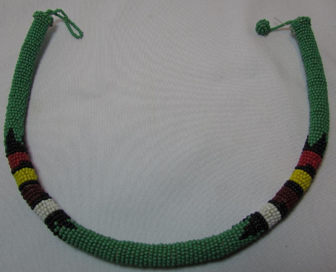 """FAB GREEN 10MM BEADWORK NECKLACE 18.5"""""""