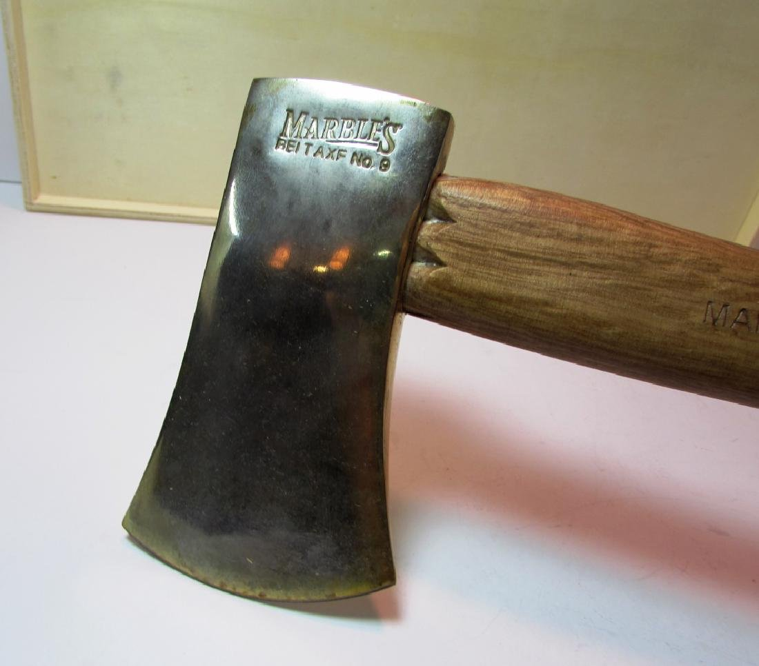 MARBLES No. 9 AXE HATCHET GOLD TONE UNUSED IN BOX - 4