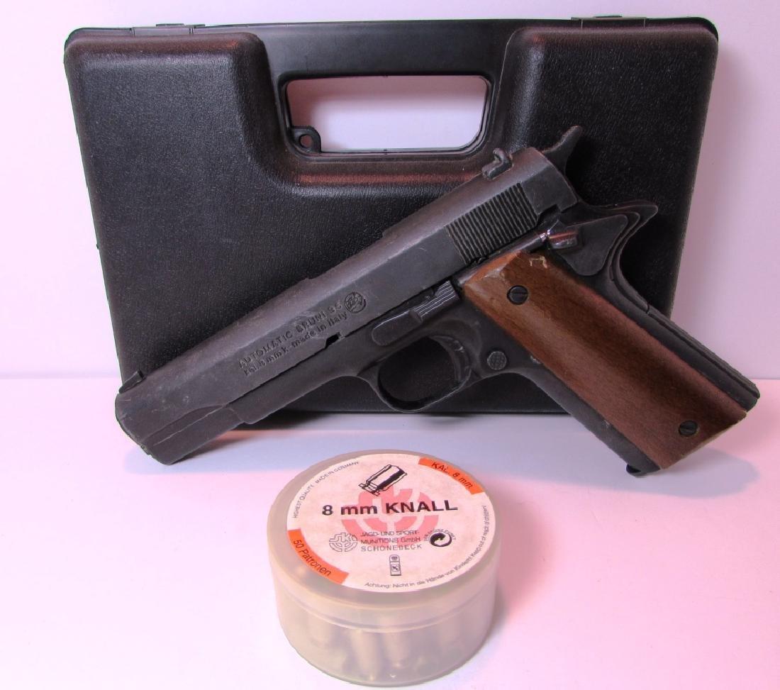BRUNI 96 BLANK GUN 8mm KNALL 1911 STYLE AMMO CASE