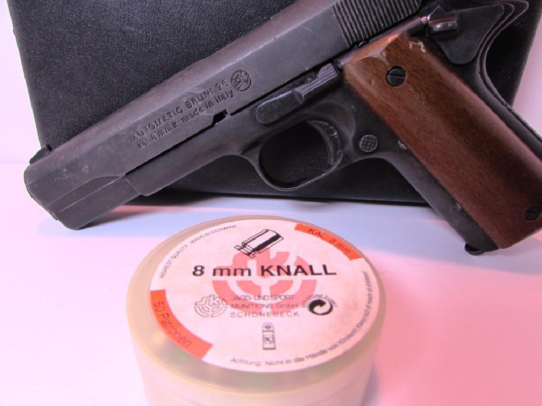 BRUNI 96 BLANK GUN 8mm KNALL 1911 STYLE AMMO CASE - 2