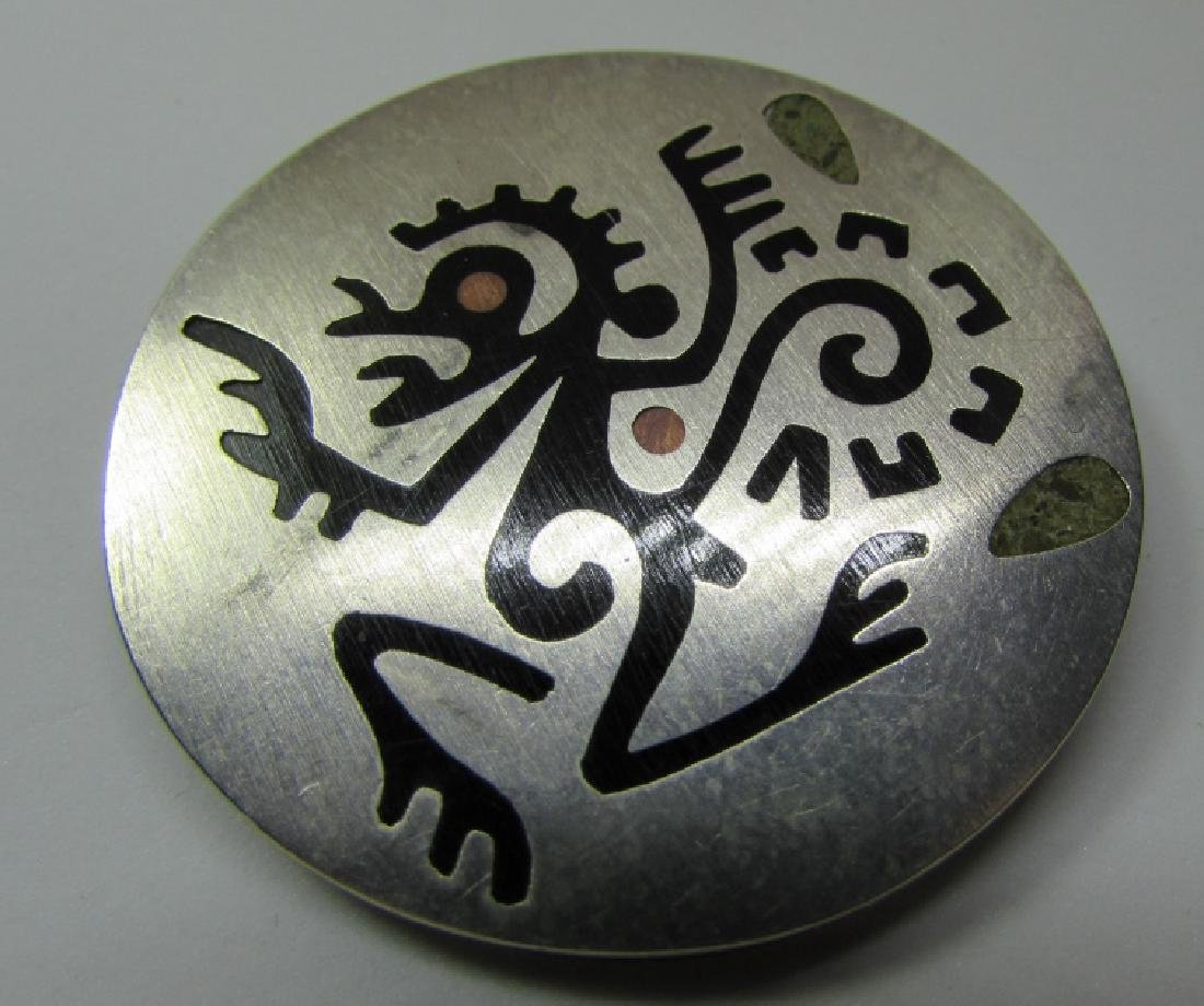 HAB TAXCO PIN STERLING SILVER INLAID EAGLE 3